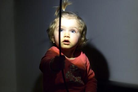 Sara cu lampa. Martie 2010