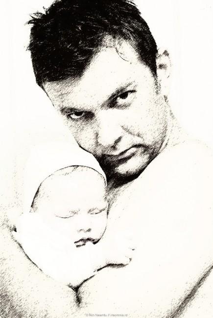 Autoportret cu Sara in brate