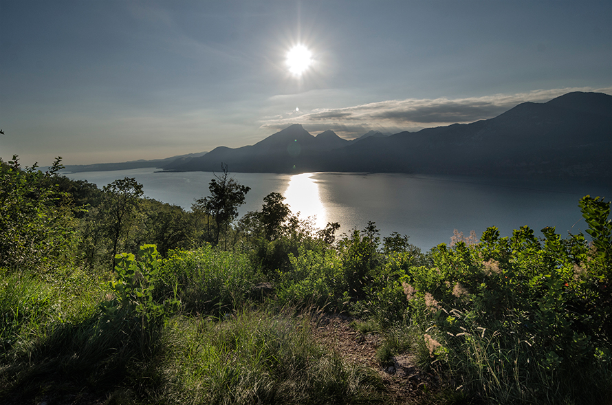 Evening View of Lake Garda from via Fasse