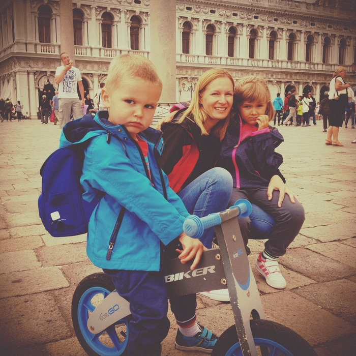 Riding a Bycicle in Venice
