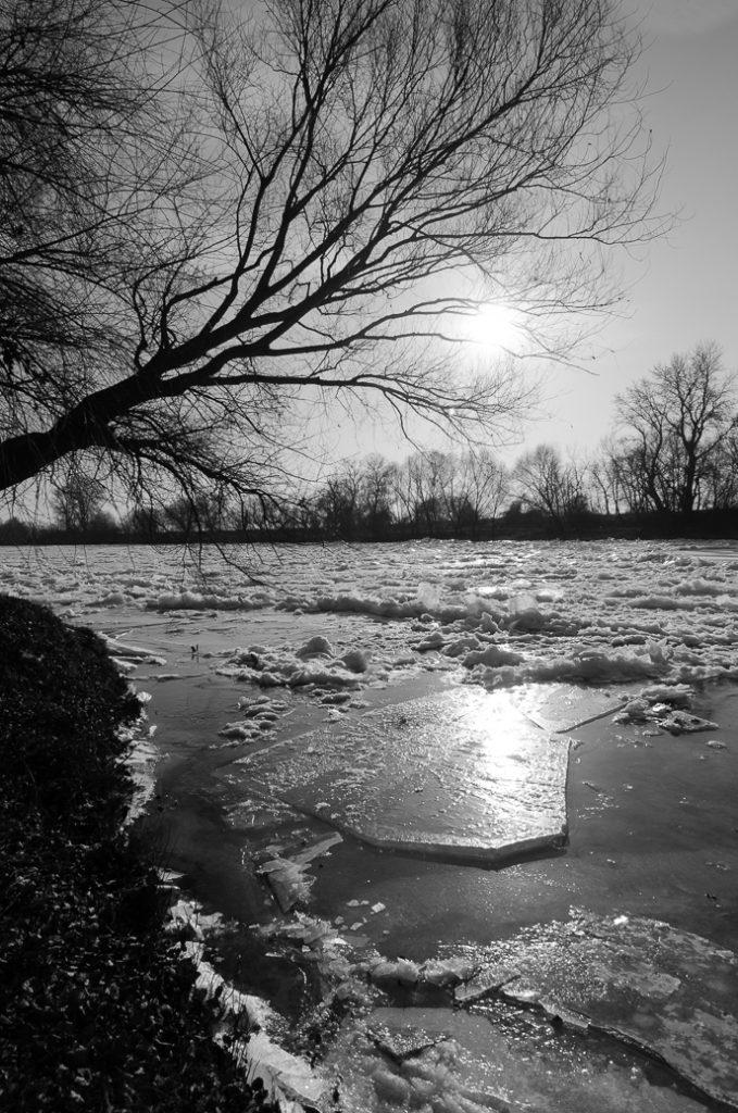 Gheață pe Mureș, Arad, ianuarie 2017.