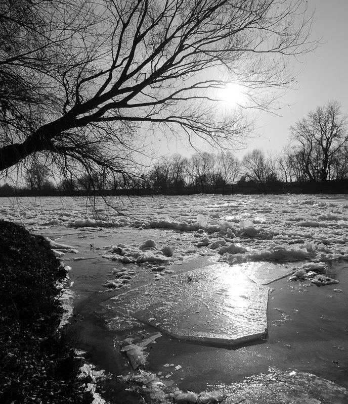 Gheață pe Mureș