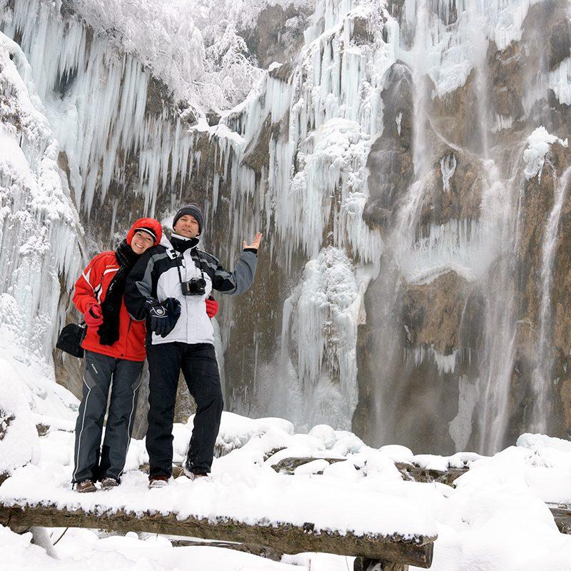 Lacurile Plitvice iarna